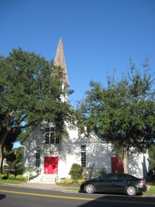 The Congregational Church in Mt Dora where the Coolidges attended services each Sunday during their stay.
