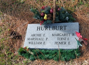 At Pine Forest Cemetary in Mt Dora, Archie Hurlburt, CC's close friend and the manager of Lakeside Inn, was laid to rest in 1950.