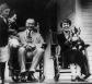 Coolidges on front porch