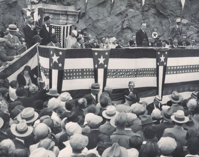 Former President Coolidge dedicates the Coolidge Dam