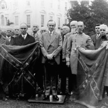 President Coolidge Returns Captured Confederate Battleflags