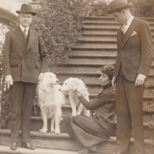 Pres Coolidge w Rob Roy & Prudence