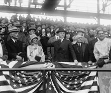 2012opeingdaycoolidge10-president-calvin-coolidge-1872-33- April 22, 1924 pitched the Senators to a 6-5 win over the Yankees