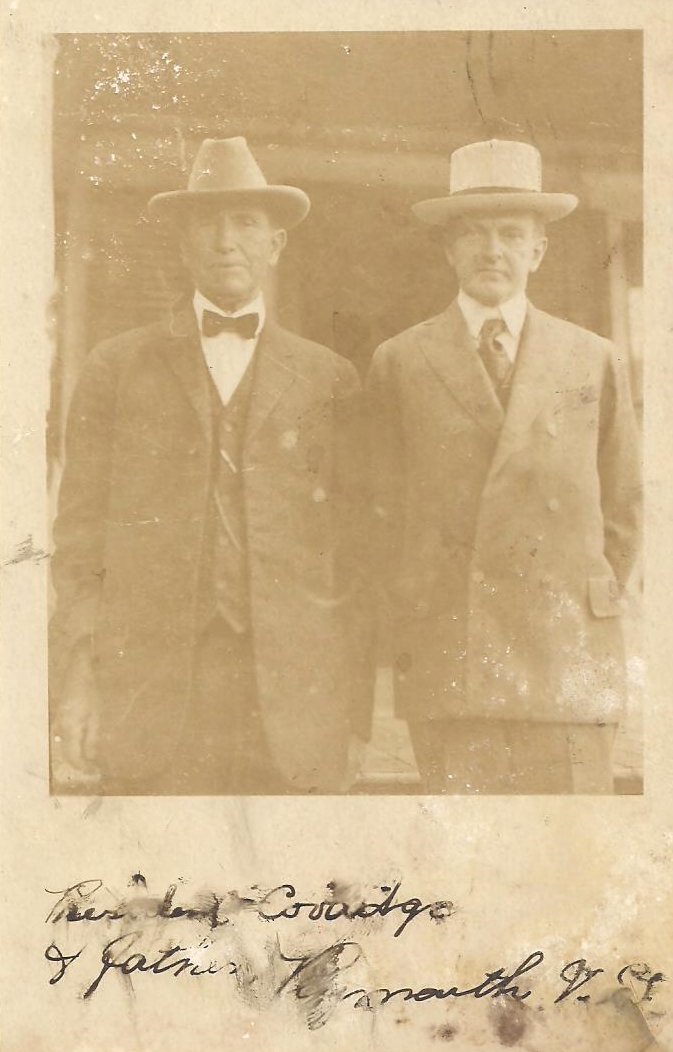 Postcard of Father and Son Coolidge