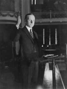 President Coolidge Making His Speech of Acceptance