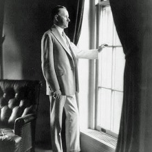 Calvin-Coolidge-full-length-portrait-standing-at-window-facing...-painting-artwork-print