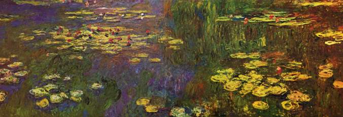 Painting of water lilies by Claude Monet, completed in 1926.