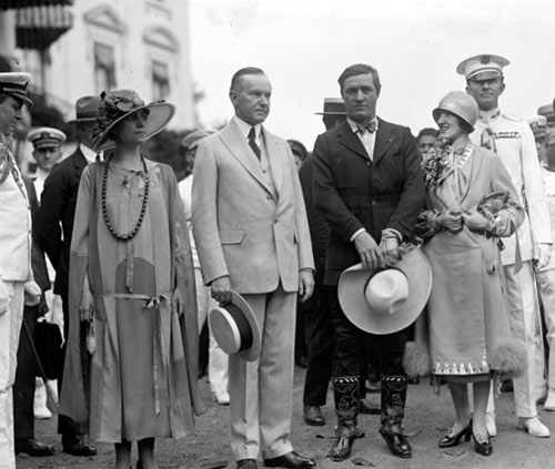 The Coolidges Meet Tom and Victoria Mix, 1925