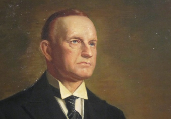 Portrait by Joseph Burgess from the Ercole Cartotto original of President Coolidge
