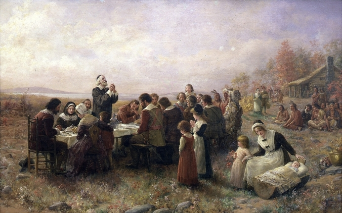 "Jennie Bunscombe, ""The First Thanksgiving,"" 1914"