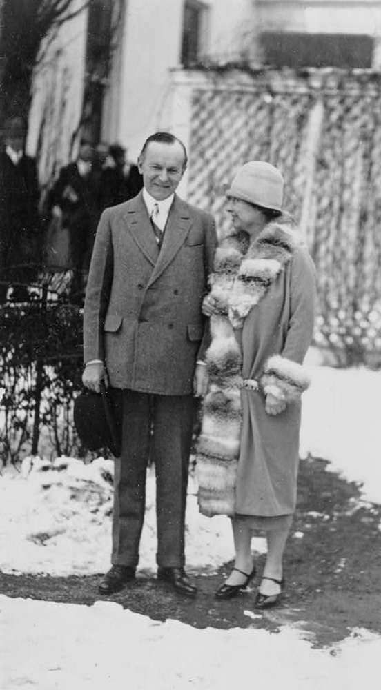 President Coolidge meeting political activist Helen Keller, at the White House, January 11, 1926.