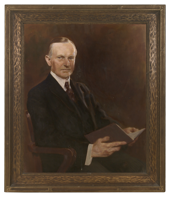 Anonymous portrait of Calvin Coolidge held in the Coolidge Room of Forbes Library in Northampton, Massachusetts.