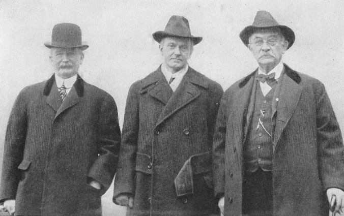 The Honorable John C. Hammond, President Calvin Coolidge and Judge Henry P. Field, attending a reunion of Amherst alumni.
