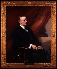 Calvin Coolidge, posthumous portrait by Frank O. Salisbury, 1934.