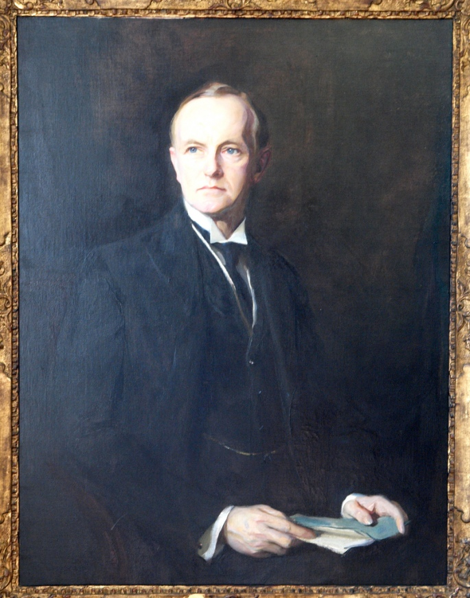The portrait of Coolidge painted by Hungarian artist Philip de Laszlo, two years before the telephone conversation with King Alfonso.