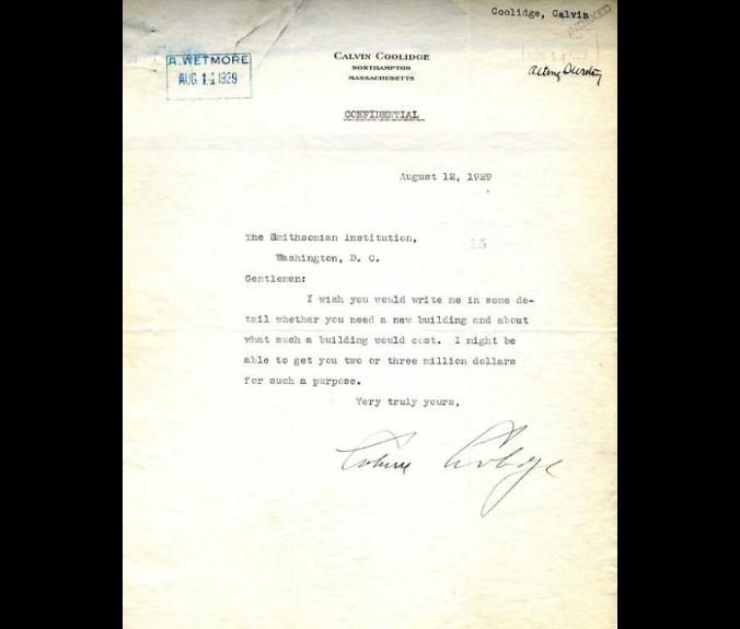 CC letter August 1929