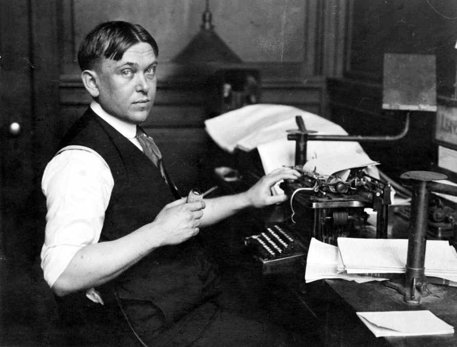 "Journalist and critic Henry L. Mencken, the ""Sage of Baltimore"""
