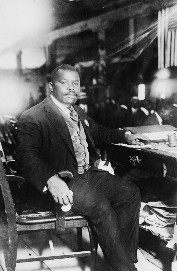 Marcus Garvey, native-born Jamaican, established and led the Universal Negro Improvement Association. Many, including DuBois, perceived him as a dire threat to blacks everywhere. This photograph was taken in the summer of 1924. He would leave his mark on movements around the world, including the Rastafari movement, which considers him a prophet. His second wife,  Amy Jacques Garvey, petitioned President Coolidge for his release, which was granted in November 1927 followed by deportation back to Jamaica.