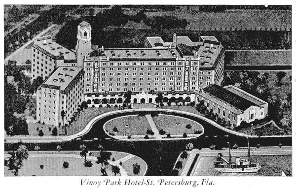 St. Petersburg's Vinoy from the air, 1920s.