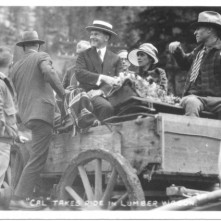 Wagon ride to Game Lodge SD 1927