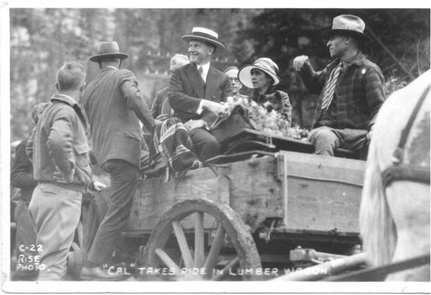 Wagon Ride to the Game Lodge, South Dakota, 1927