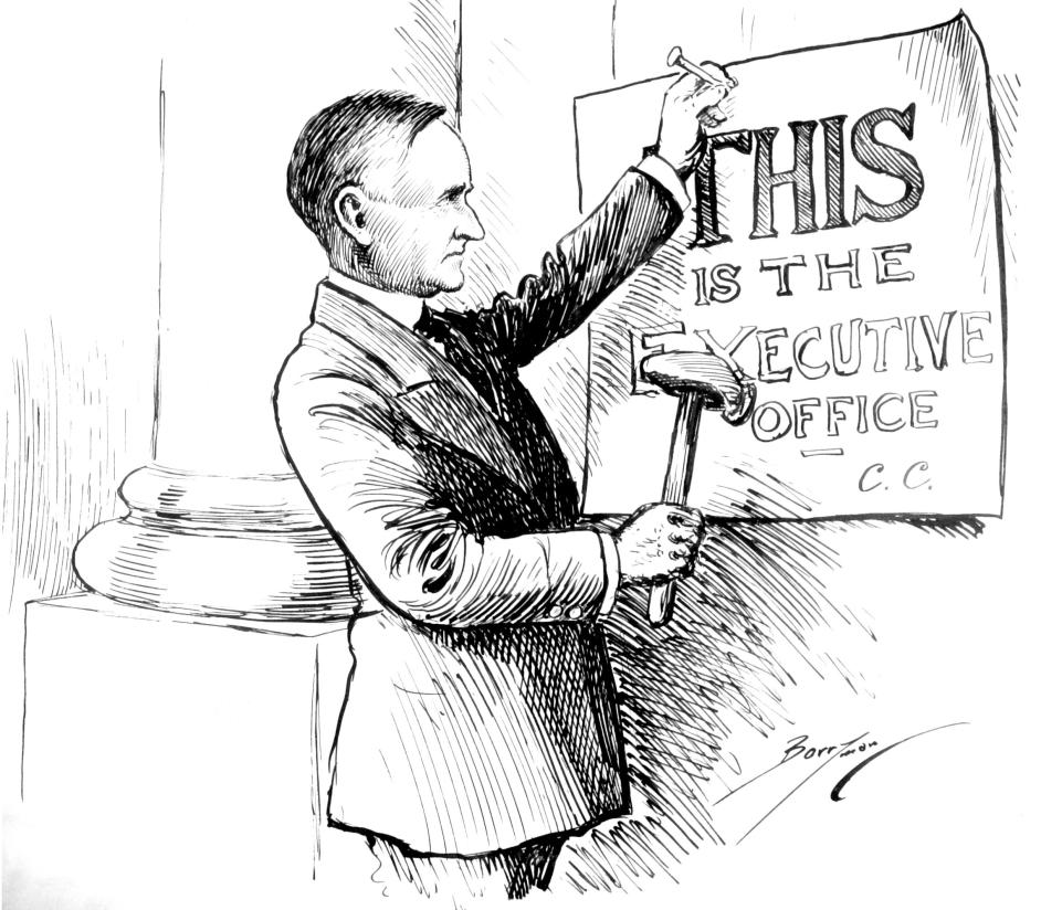 Cartoon by Charles Berryman, February 12, 1924