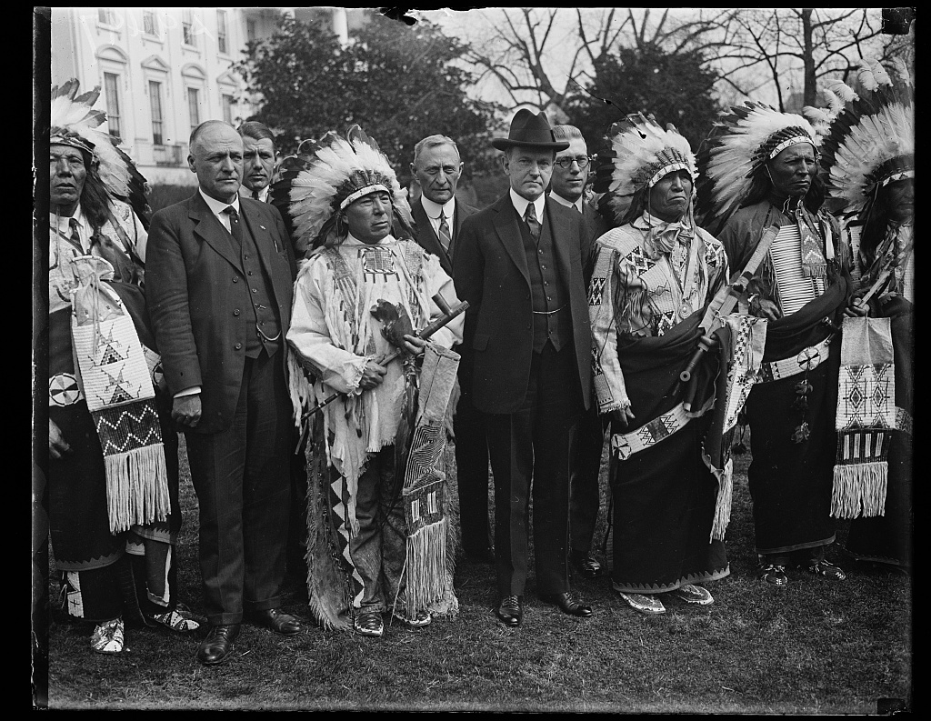 At the White House, 1925