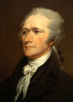 Hamilton by John Trumbull (after portrait done by Giuseppe Ceracchi in 1801)