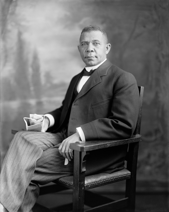 Booker T. Washington, founder of Tuskegee Institute