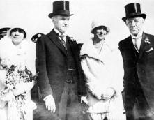 L to R: First Lady Grace Coolidge, President Coolidge, Mrs. Mary Curtis Bok and Mr. Edward William Bok, February 1, 1929.