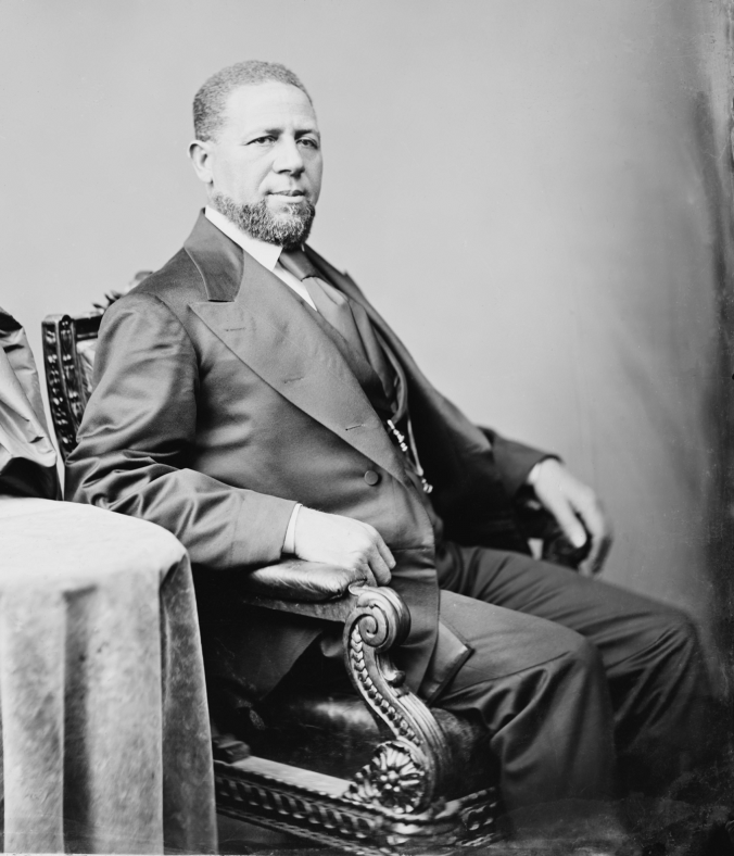 Hiram R. Revels, c. 1870. Original photo by Matthew Brady.