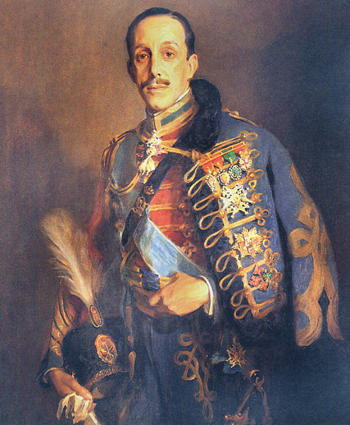 King Alfonso XIII of Spain, painted by Philip Alexius de Laszlo in 1927. De Laszlo also painted a portrait of Coolidge (1926).