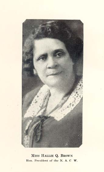 Hallie Quinn Brown of Pennsylvania was a tireless Republican grassroots activist. She helped establish women's clubs in Ohio and directed the effort nationally among black women from 1920-1924. She spoke at the 1924 convention and helped to ensure Coolidge won that November. This is a picture from a book she published in 1926.