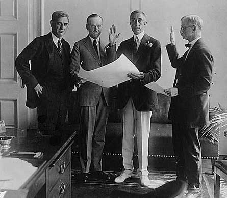 C. Bascom Slemp being sworn in as Secretary to the President, September 4, 1923