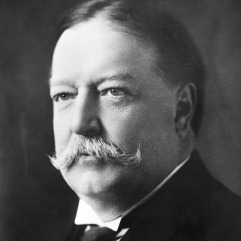 William H. Taft, TR's successor and loyal friend who turned into a political adversary after Taft's disappointing term as President.