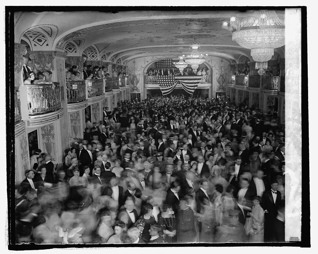 Snapshot from the unofficial ball, Inauguration Day, March 4, 1925
