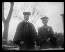 The Coolidges at Andover, May 1928, where Coolidge spoke at commencement before over 10,000 people, including a class of 650.