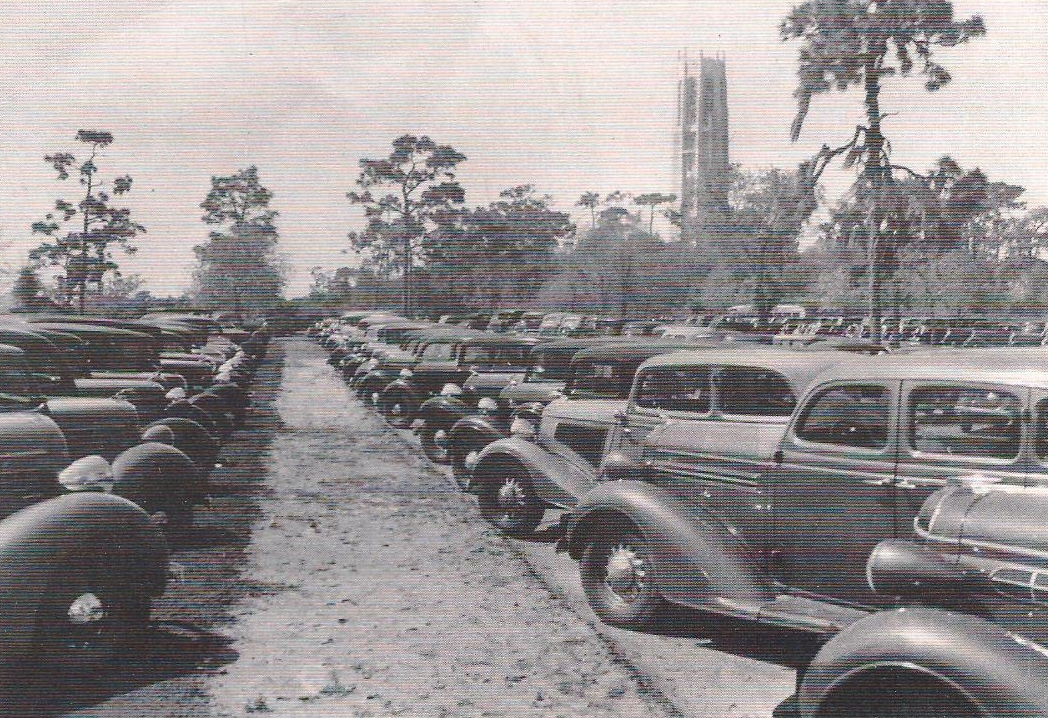 The parking lots on Dedication Day, February 1, 1929