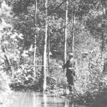 President Coolidge fishing on Squaw Creek, June 16, 1927
