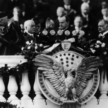 Chief Justice Taft administering the oath of office to President Coolidge