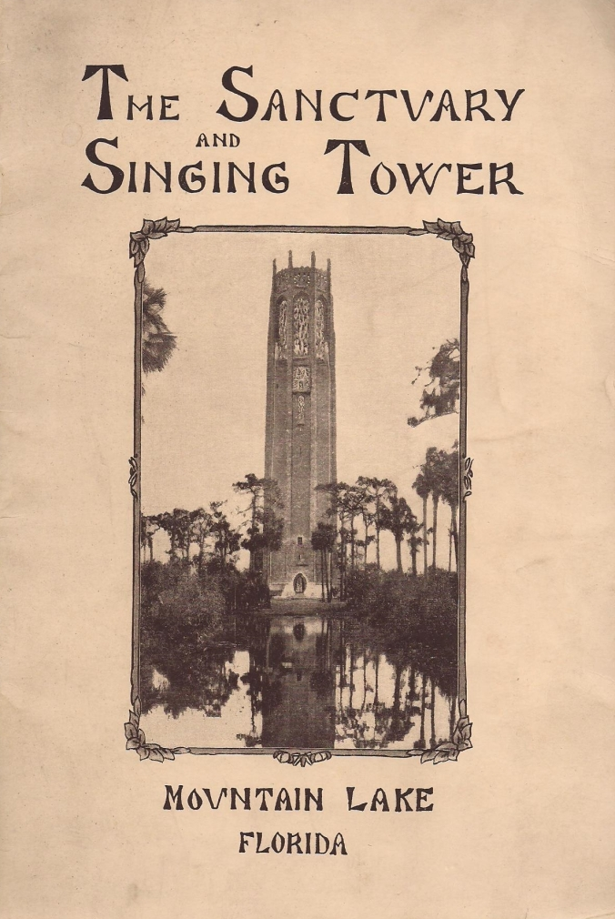 Cover of the Dedication Program printed for the event, February 1, 1929.