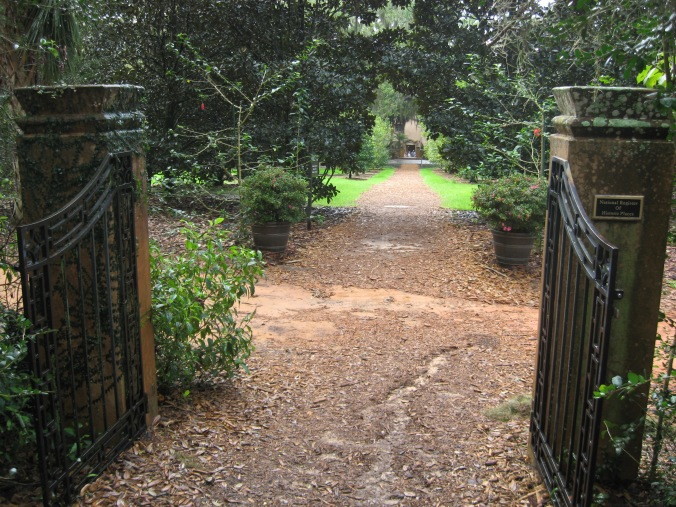 Entrance to Pinewood Estate across from Bok Tower through the Gardens.