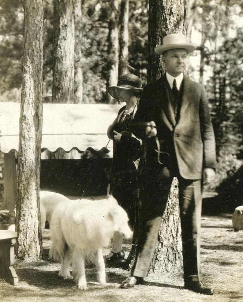 The Coolidges at White Pine Camp, Adirondacks, New York, summer 1926