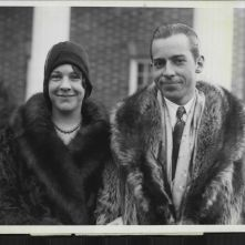 The President's oldest son, John, and Florence Trumbull during their engagement, 1928.