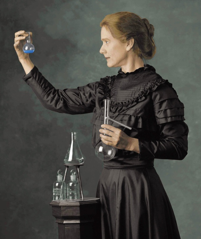 Madame Marie Curie, as portrayed by Susan Marie Frontczak