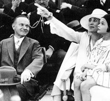 The President and Mrs. Coolidge with Suzanne Boone at John Ringling's circus