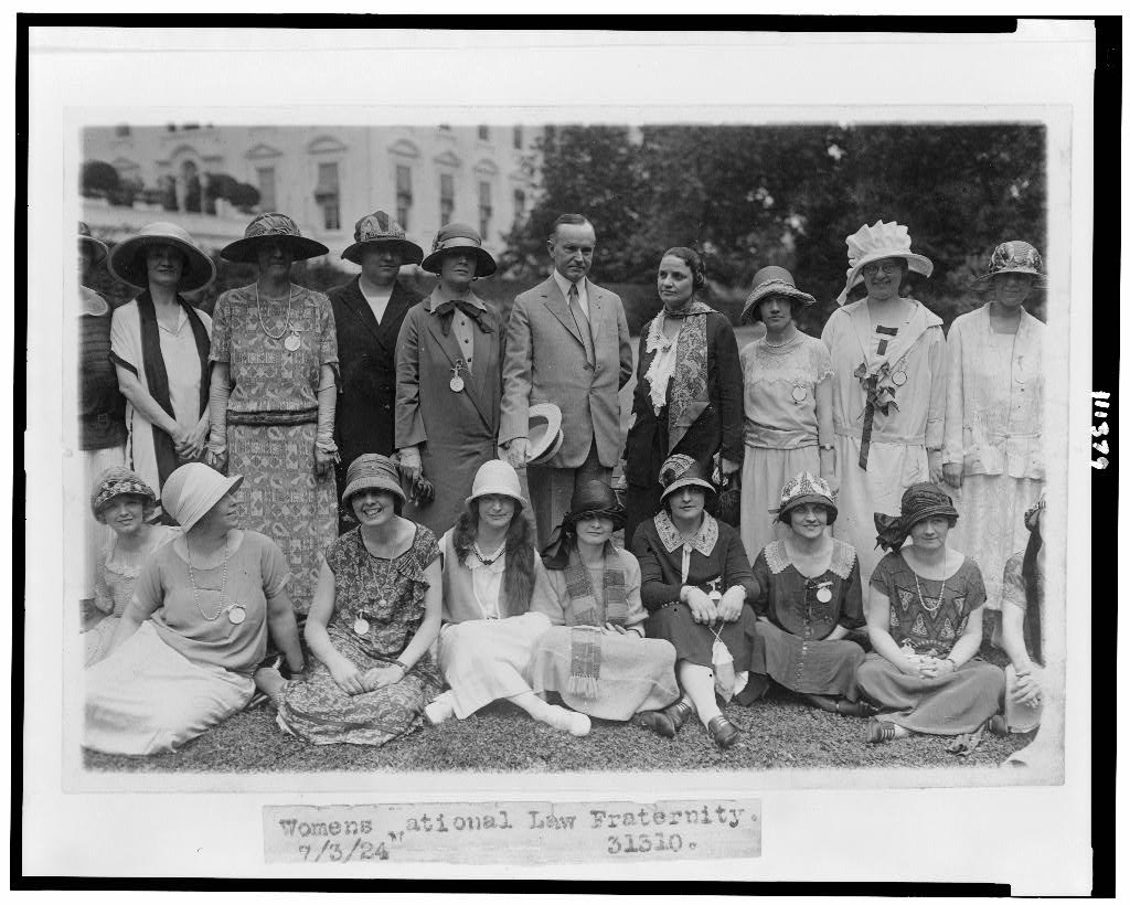 Notice the woman next to President Coolidge's left is his Assistant Attorney General, Mabel Willebrandt