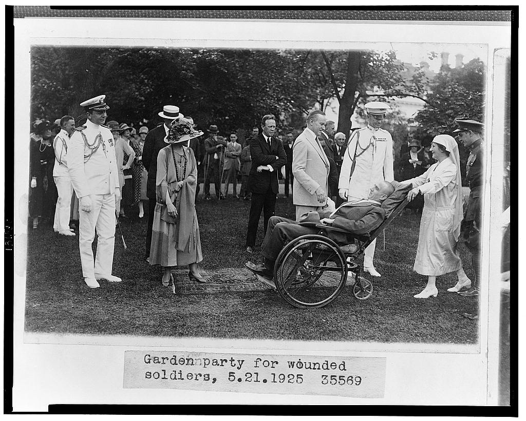 Garden Party for Wounded Veterans on the White House lawn, May 21, 1925.