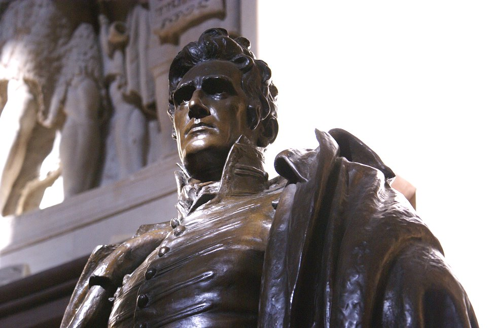 The statute of Andrew Jackson, given by the State of Tennessee and accepted by President Coolidge stands underneath the dome of the Capitol in Washington, where Coolidge, in 1928, delivered the address featured here.