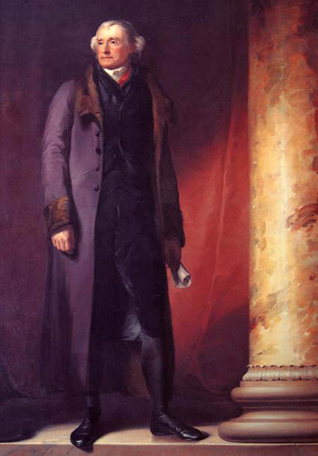 Jefferson by Thomas Sully, 1821-22